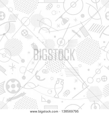 Football championship abstract seamless background vector illustration