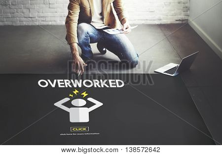 Overworked Depression Emotion Exhaust Problem Concept