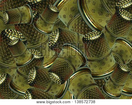 In this image you can see a thimbles, from the tailor work tool.
