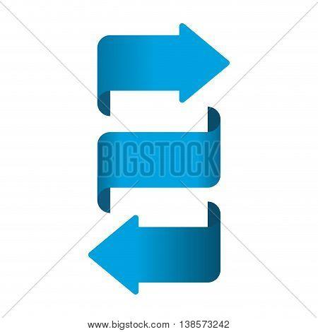 flat design arrow pointing opposite ways icon vector illustration