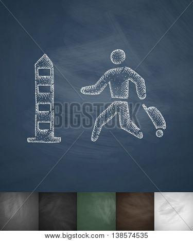 passport control icon. Hand drawn vector illustration. Chalkboard Design