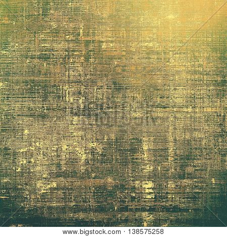 Grunge background for your design, aged shabby texture with different color patterns: yellow (beige); brown; gray; green