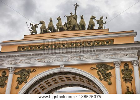 St. Petersburg. Palace Square. General staff. Arch