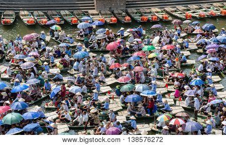 Ninh Binh, Vietnam, April 24, 2016 resorts Trang An, Ninh Binh, Vietnam, the world natural heritage