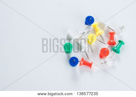 Many Color Pin Thumbtacks / Selective Focus