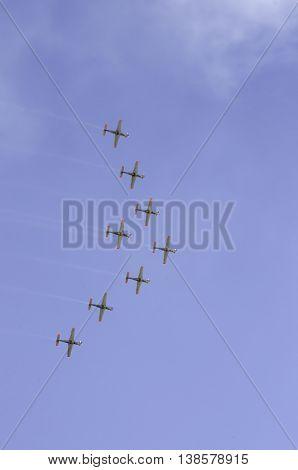 Aerobatic fly wings Athens Greece Tatoi airport 2015 Sep