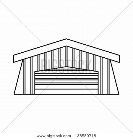 Barn icon in outline style. Building symbol isolated vector illustration