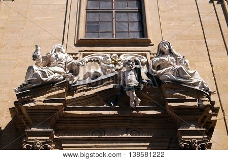 FLORENCE, ITALY - JUNE 05: Saint Philip Neri church, Complesso di San Firenze in Florence, Italy, on June 05, 2015