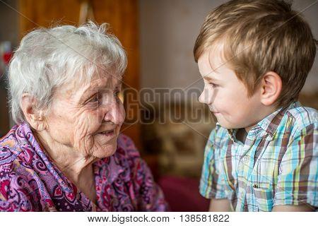 Grandma and little grandson.