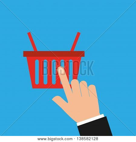 choosing items, ecommerce shopping icon, vector illustration