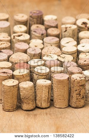 brown used corks row background winery style