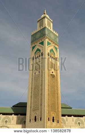 Tower Mosque Hassan II in Casablanca, Morocco