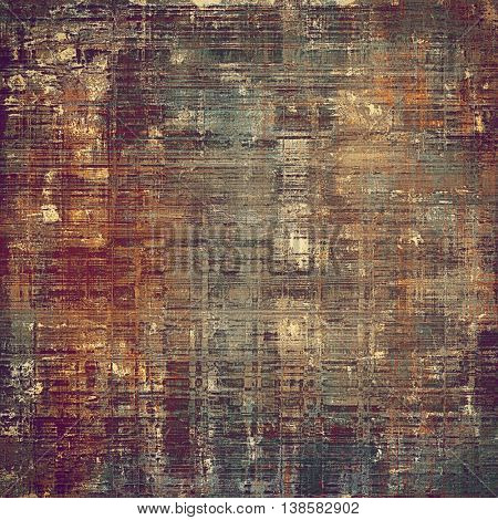 Grunge retro composition, textured vintage background. With different color patterns: yellow (beige); brown; gray; cyan; red (orange); purple (violet)