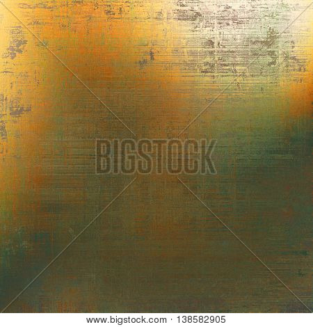 Vintage template or background with grungy texture, antique decor and different color patterns: yellow (beige); brown; gray; green; red (orange)