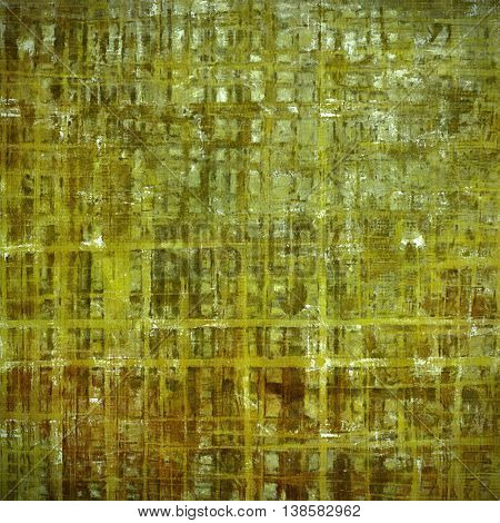 Creative grunge background in vintage style. Faded shabby texture with different color patterns: yellow (beige); brown; gray; green