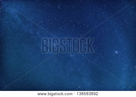Night sky with stars in blue color texture