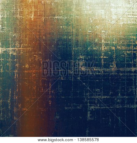 Antique frame with grunge background. With different color patterns: brown; gray; green; blue; cyan; red (orange)