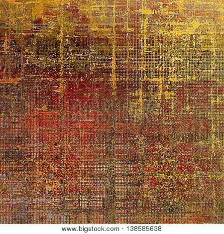 Grunge abstract textured background, aged backdrop with different color patterns: yellow (beige); brown; gray; red (orange); pink