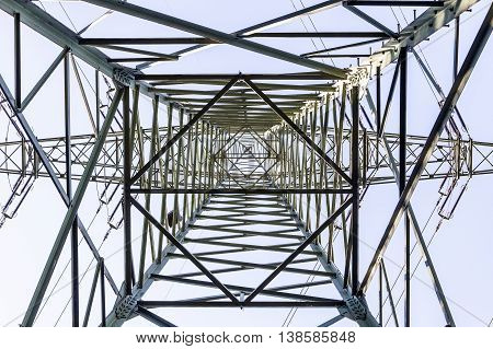 Electrical Tower From Inside Perspective