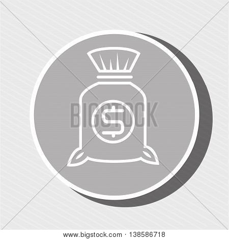 symbol of bag money isolated icon design, vector illustration  graphic