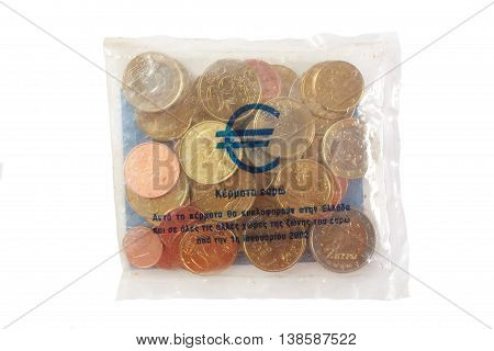 The Greek Euro starter kit. Money concept