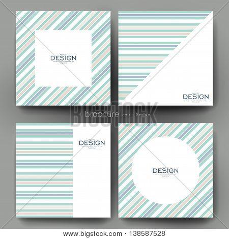 abstract vector brochure template. Flyer Layout. Creative modern design