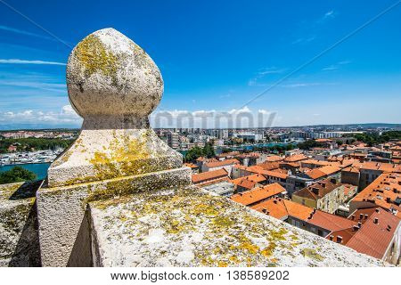 View From The Top Of The Bell Tower Of The Church Of St. Anastasia - Stosija In Zadar At Downtown Of