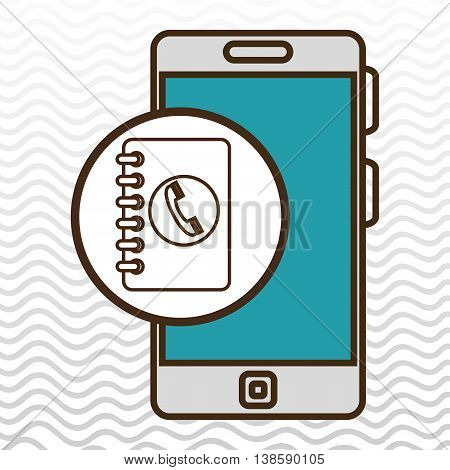 smartphone blue telephone isolated icon design, vector illustration  graphic