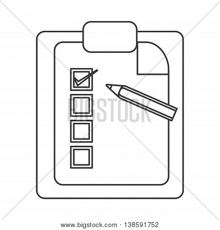 flat design clipboard with pencil icon vector illustration