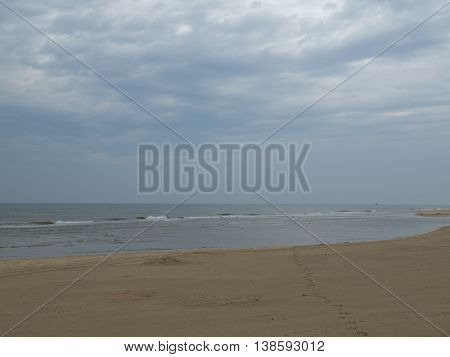a nice beach at the dutch coast