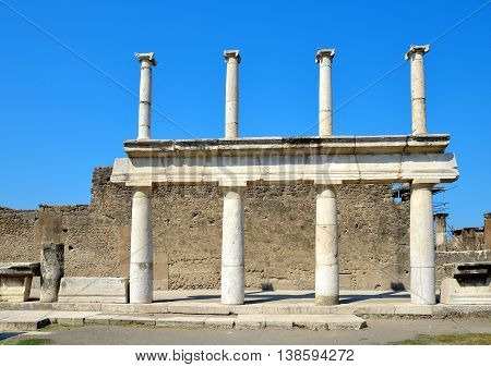 Ancient Roman city of Pompeii in Italy.