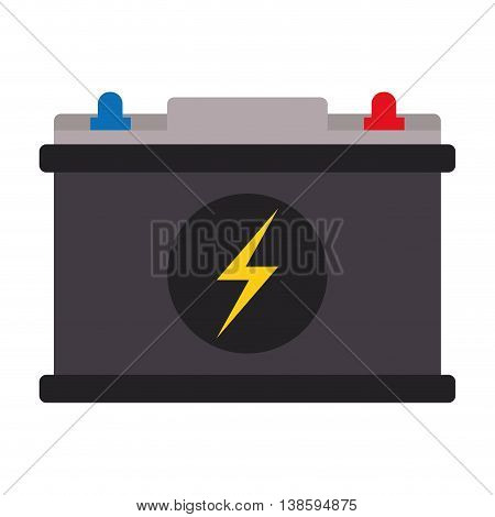flat design car battery icon vector illustration