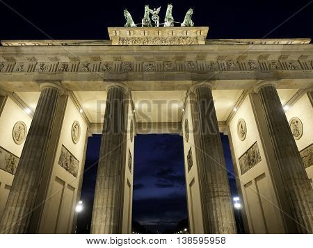 the Brandenburger tor in the City of berlin