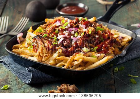 Homemade Bbq Pulled Pork French Fries