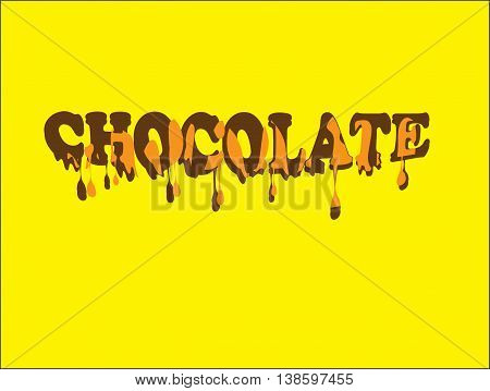 CHOCOLATE - Melted and tasty chocolate font