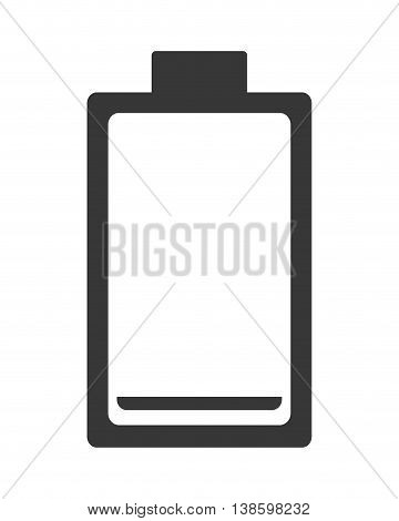 flat design low battery symbol icon vector illustration