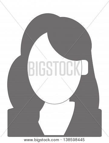 simple flat design faceless woman portrait icon vector illustration
