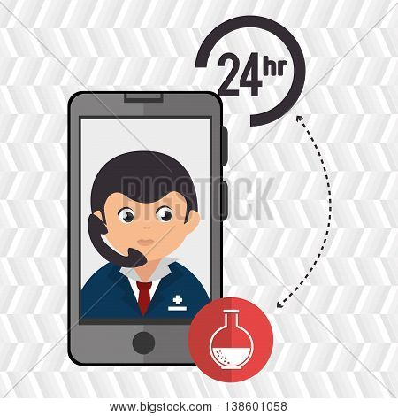 24-hour health laboratory isolated icon design, vector illustration  graphic