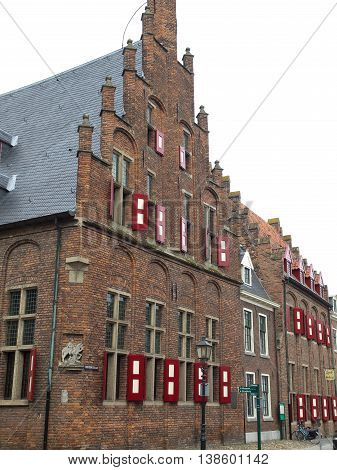 zutphen and the river ijssel in holland