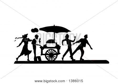 People In The Street/Market.