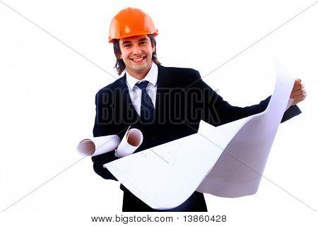 architect isolated on white background