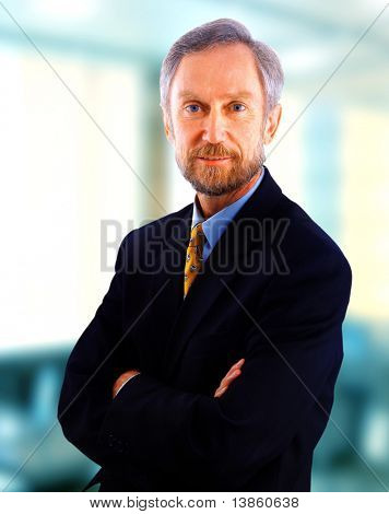 Portrait of middle-aged businessman in suit