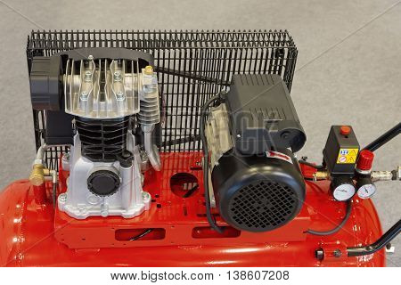 gasoline and electric engines of new compressor unit