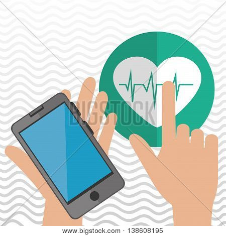 smartphone service medical icon vector illustration eps 10