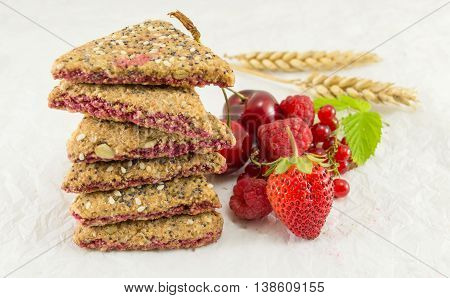 Biscuits With Strawberry Currant And Cherry
