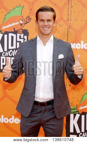 Nic Lamb at the Nickelodeon Kids' Choice Sports Awards 2016 held at the UCLA's Pauley Pavilion in Westwood, USA on July 14, 2016.