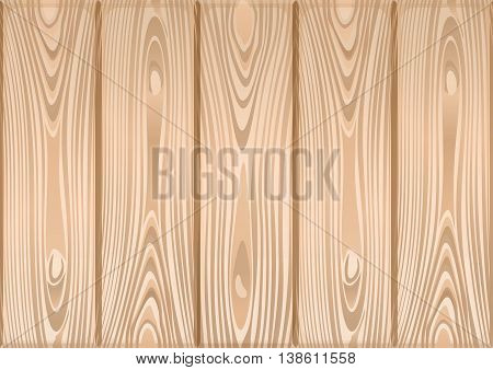 Wooden texture. Timber natural light. Wooden background. Vector illustration
