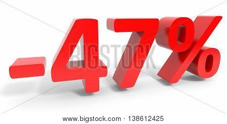 Discount 47 Percent Off Sale.