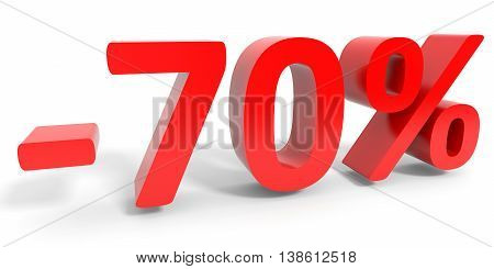 Discount 70 Percent Off Sale.