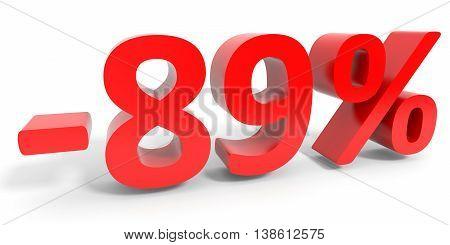 Discount 89 Percent Off Sale.